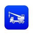 truck crane icon digital blue vector image vector image
