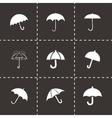 umberlla icon set vector image vector image