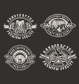 vintage brewery monochrome prints vector image vector image