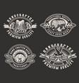 vintage brewery monochrome prints vector image