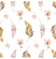 watercolor autumn seamless pattern vector image vector image