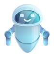 web chatbot icon cartoon style vector image vector image