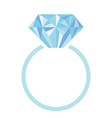 wedding or engagement ring with diamond vector image