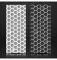 White And Gray Geometric Texture Banner vector image vector image