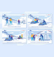 winter activity in ski resort - services set vector image vector image