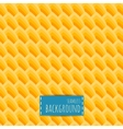 Yellow seamless pattern honeycomb background vector image