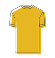 yellow watercolor silhouette of t-shirt man vector image
