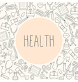 Medical background Health vector image