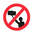 No selfie allowed sign vector image