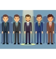 Employees job candidate selection business vector image