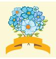 Bouquet of blue flowers vector image