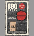 5 july barbecue and burger grill cookout party vector image vector image