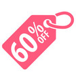 60 percent off tag vector image vector image
