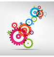 Abstract colorful cogs - gears on grey background vector image