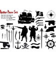 Another Big Pirate Set vector image vector image
