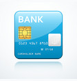 bank card icon vector image