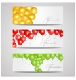 banners with balloons vector image vector image