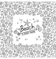 beach and sea doodles vector image