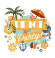 beautiful beach party design vector image