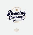 brewing company logo pub emblem vintage vector image vector image