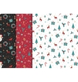 Bright Christmas chuck for fabric vector image vector image