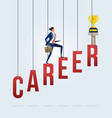 Business career growth concept