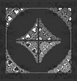 calligraphic ornamental corners on chalkboard vector image vector image