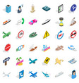 car traffic icons set isometric style vector image vector image