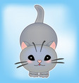 cat baby kitten sticker cu vector image
