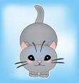 cat baby kitten sticker cu vector image
