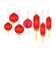 chinese lanterns for the chinese new year festival vector image