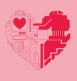 circuit heart vector image