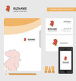 cock business logo file cover visiting card and vector image