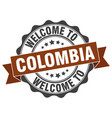 colombia round ribbon seal vector image vector image