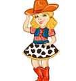 Cowgirl child isolated on white vector image