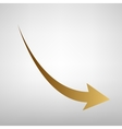 Declining arrow sign vector image vector image