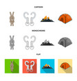 design of mountaineering and peak sign vector image
