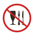 do not eat vector image