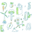 Ecology organic signs eco and bio elements in hand vector image vector image