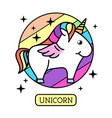 fantasy animal horse unicorn vector image vector image