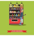 food machine and man with vector image