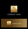 gold square shape logo vector image vector image