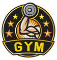 Gym label vector image