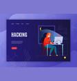 hacker concept banner vector image vector image