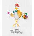 Happy Thanksgiving Day background with hipster vector image vector image