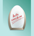 hello sunshine text on bathroom misted mirror vector image