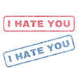 i hate you textile stamps vector image vector image