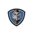 Ice Hockey Goalie Helmet Crest Retro vector image vector image