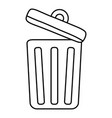 isolated trash with top design vector image vector image
