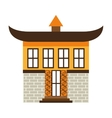 japanese building isolated icon design vector image vector image